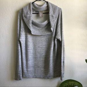 Anthropologie Dolan /Medium Gray Cowl Neck Sweater
